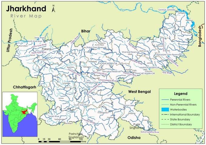 jharkhand-river-map